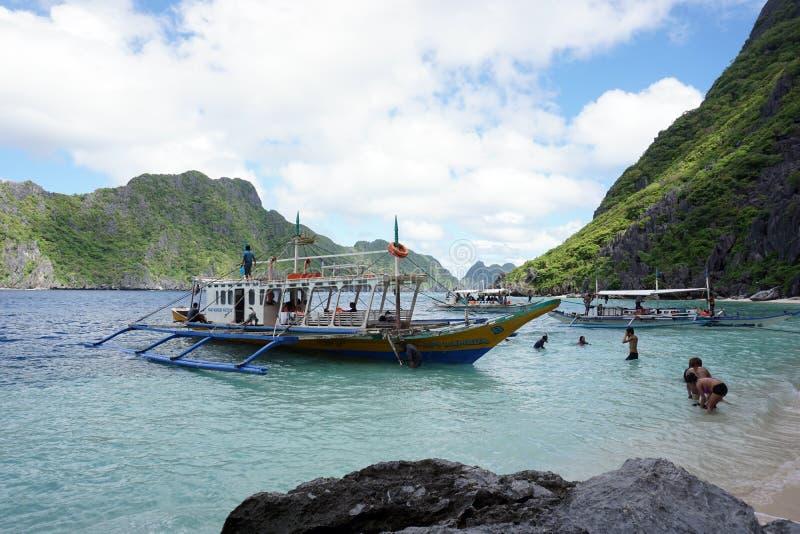 Большая лагуна El Nido Palawan стоковые фотографии rf