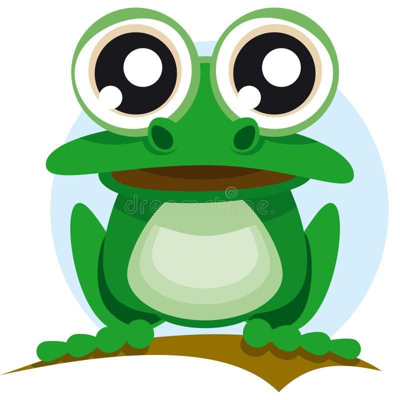 большая лягушка глаз иллюстрация вектора