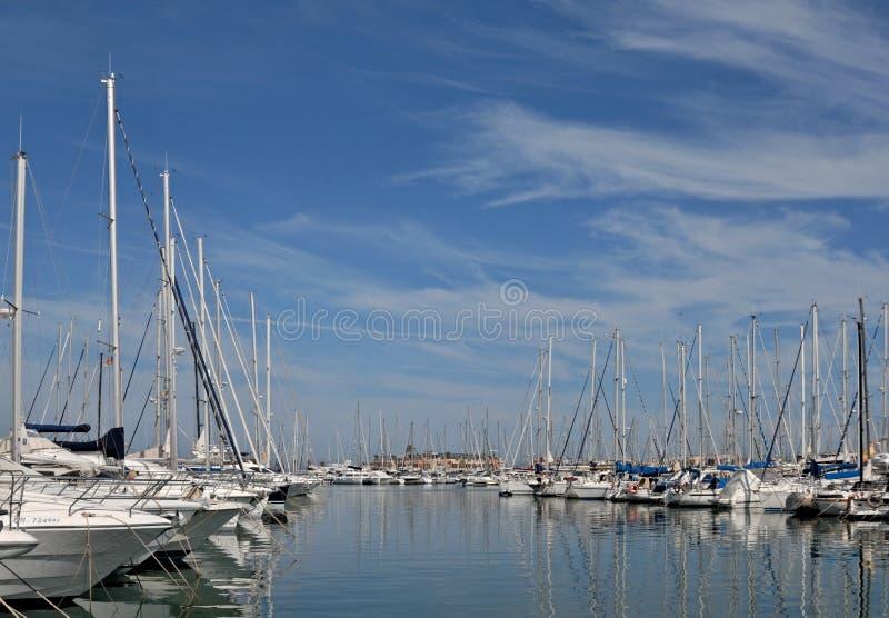 Большая Марина от Аликанте - Испании стоковое изображение