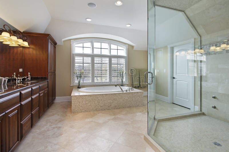 Большая мастерская ванная комната стоковые фотографии rf
