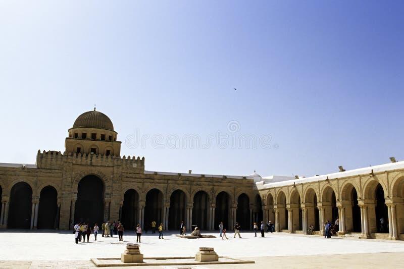 большая мечеть Тунис стоковые фотографии rf