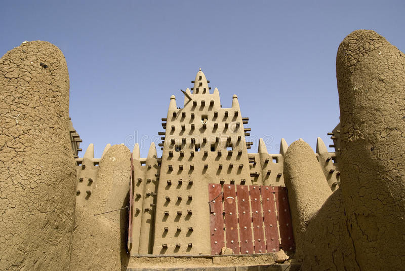 Большая мечеть Djenne. Мали. Африка стоковые фотографии rf