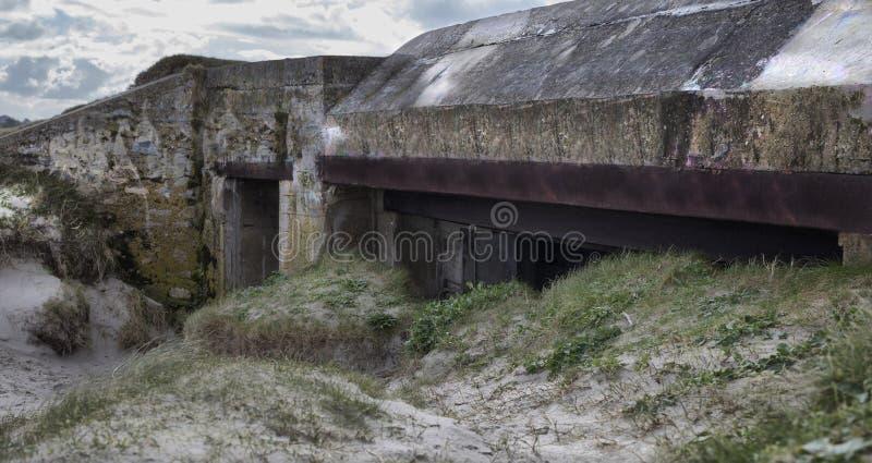 Большая немецкая часть атлантической стены, Бретань бункера, Франция стоковое фото rf