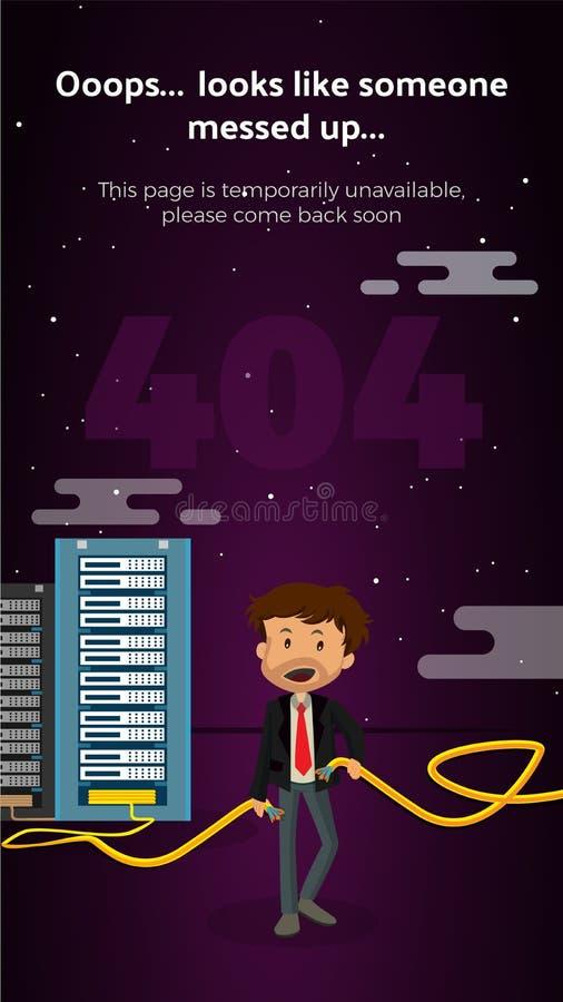Большая не считаемая страница шаржа 404 передвижной стоковое фото rf