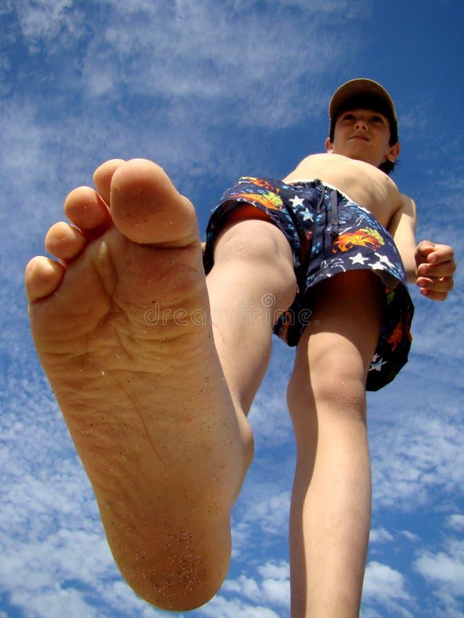 большая нога стоковые фото