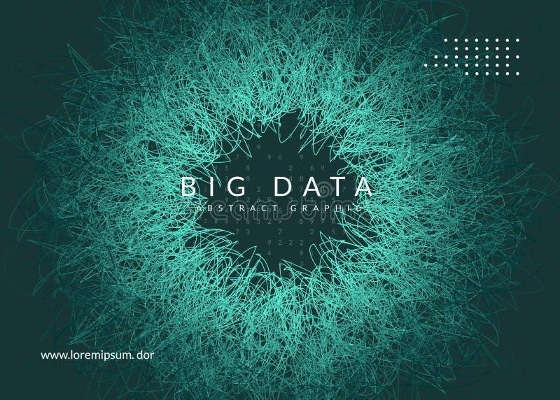 Большая предпосылка данных Технология для визуализирования, искусственная внутри бесплатная иллюстрация