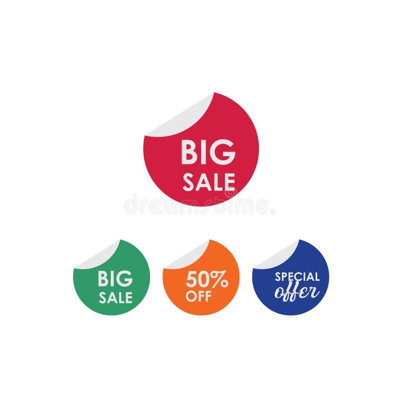 Большая продажа 50% с иллюстрации дизайна шаблона вектора ярлыка бесплатная иллюстрация