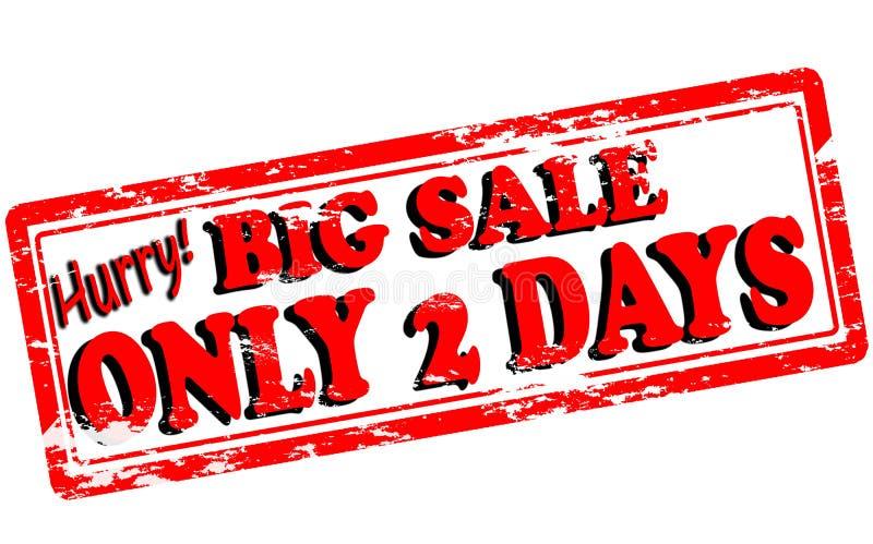 Большая продажа только 2 дня иллюстрация вектора