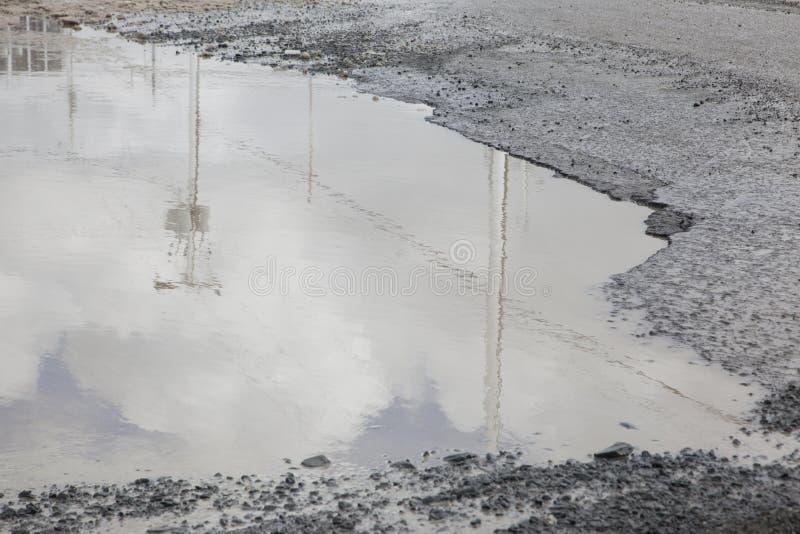 Большая рытвина лужицы стоковое изображение