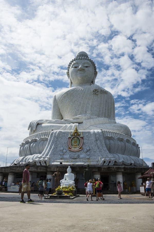 Большая статуя Будды в Пхукете Таиланде День 19-ое декабря 2018 стоковая фотография