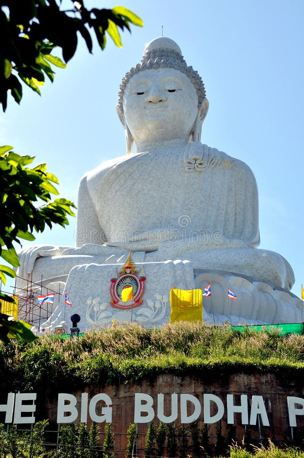 большая статуя Таиланд Будды phuket стоковые фото