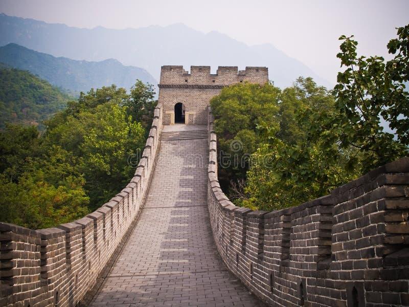 большая стена mutianyu стоковое фото rf