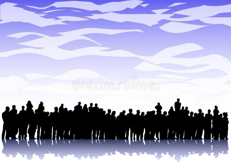 большая толпа Стоковая Фотография