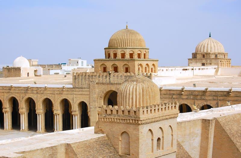 большая kairouan мечеть стоковые фото