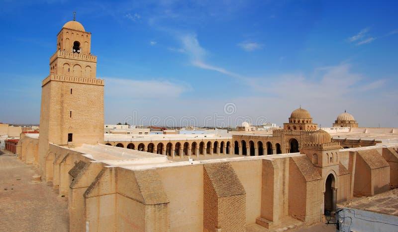 большая kairouan мечеть стоковые изображения rf