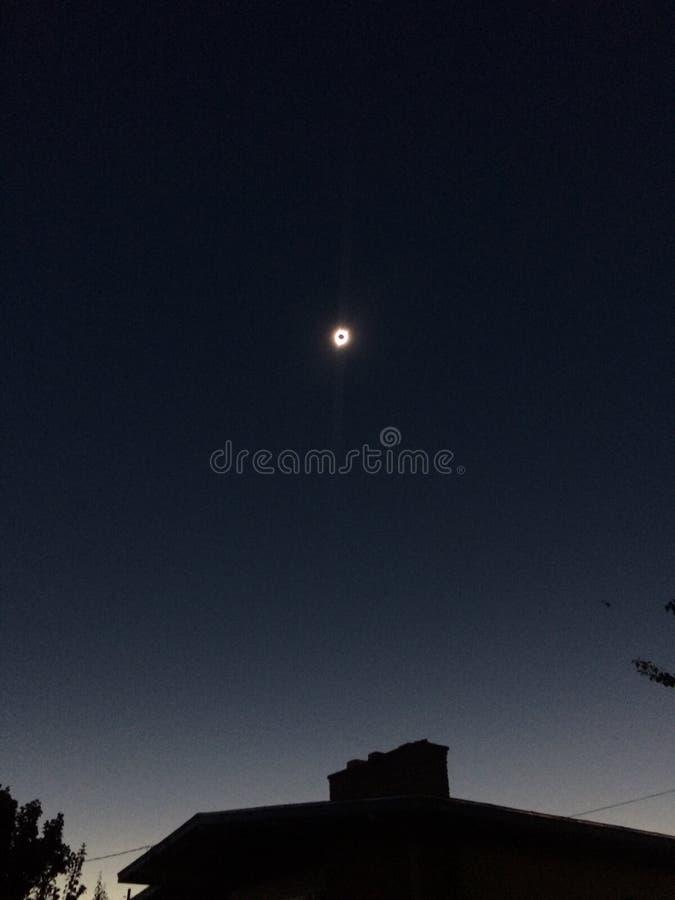Большее американское солнечное затмение стоковое фото rf