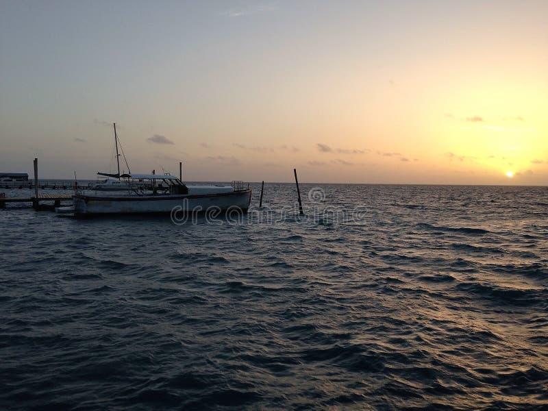 Больше восхода солнца от чеканщика Caye стоковое фото rf
