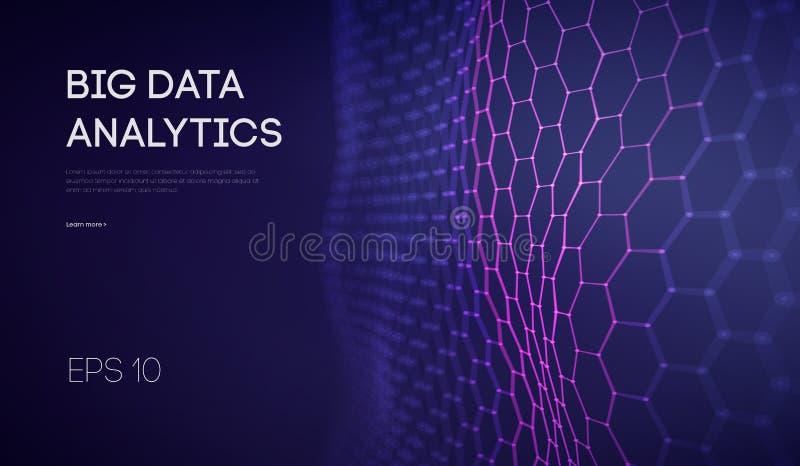 Большие данные Предпосылка технологии интеллектуального ресурса предприятия Анализ виртуальной реальности алгоритмов бинарного ко иллюстрация вектора