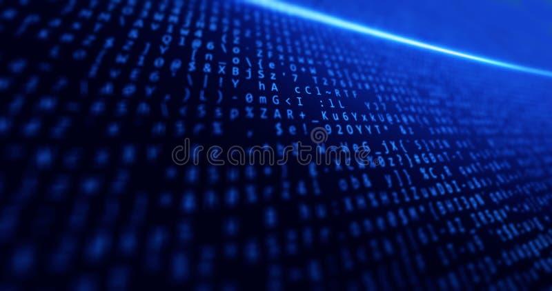 Большие данные, сеть, интернет, дело, синь предпосылки с данными и техником и светом концепций стоковое изображение rf