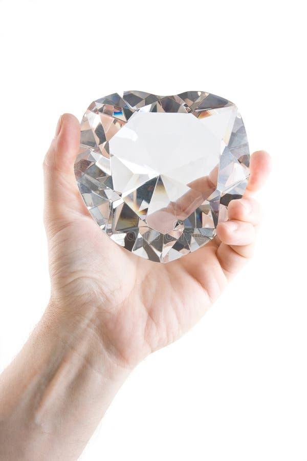 большие кристаллические люди s сердца руки стоковая фотография rf