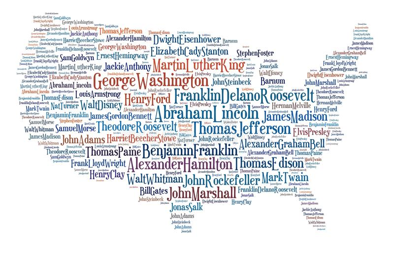 большие люди США карты бесплатная иллюстрация