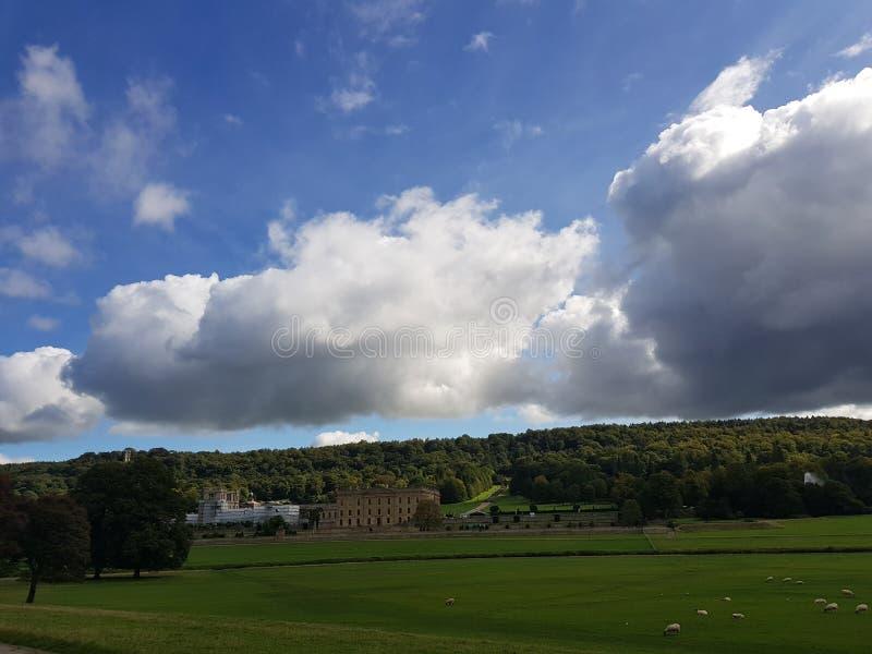 большие облака стоковая фотография