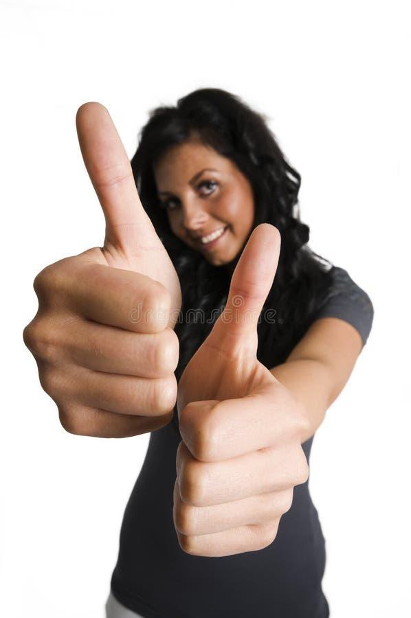 большие пальцы левой руки 2 стоковые изображения rf