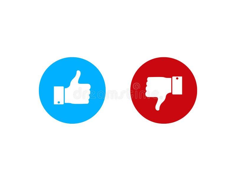 Большие пальцы руки вверх или вниз Полюбите и невзлюбите в плоском стиле Dos и donts как значок r бесплатная иллюстрация