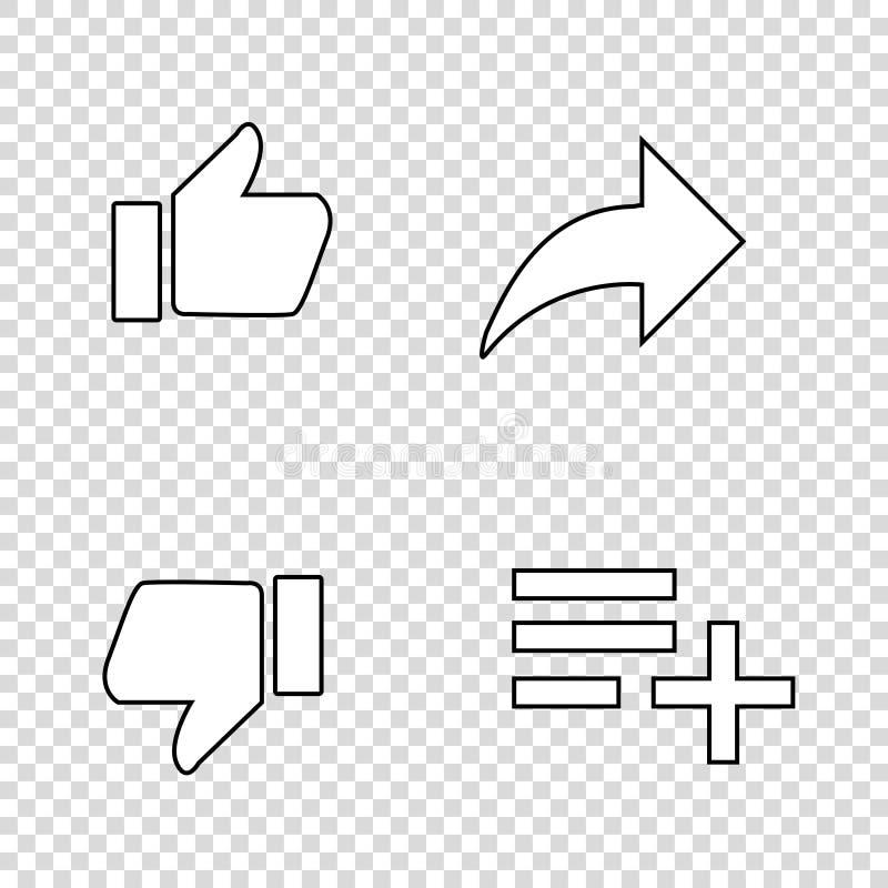 большие пальцы руки вверх по подобиям со стрелкой и списком иллюстрация вектора