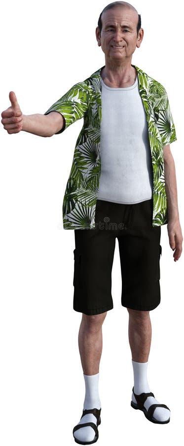 Большие пальцы руки вверх по старшее пожилому, изолированный, человек стоковые фото