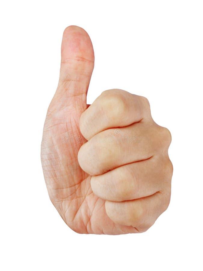 большие пальцы руки вверх стоковая фотография