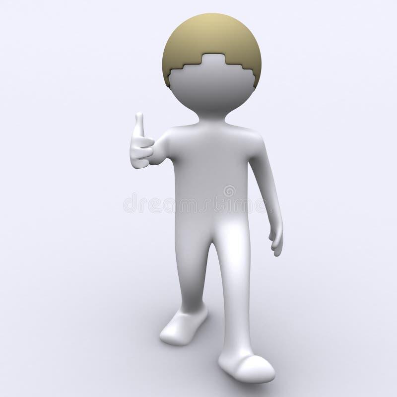 большие пальцы руки вверх иллюстрация вектора