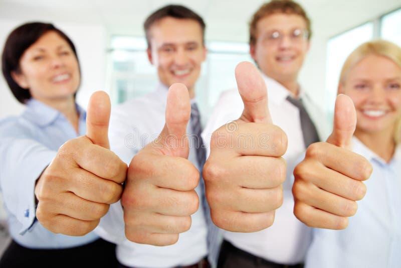 Большие пальцы руки вверх! стоковые изображения rf