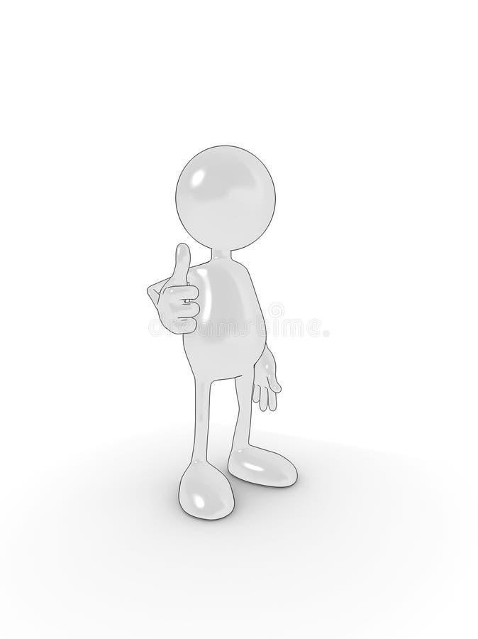 большие пальцы руки вверх иллюстрация штока