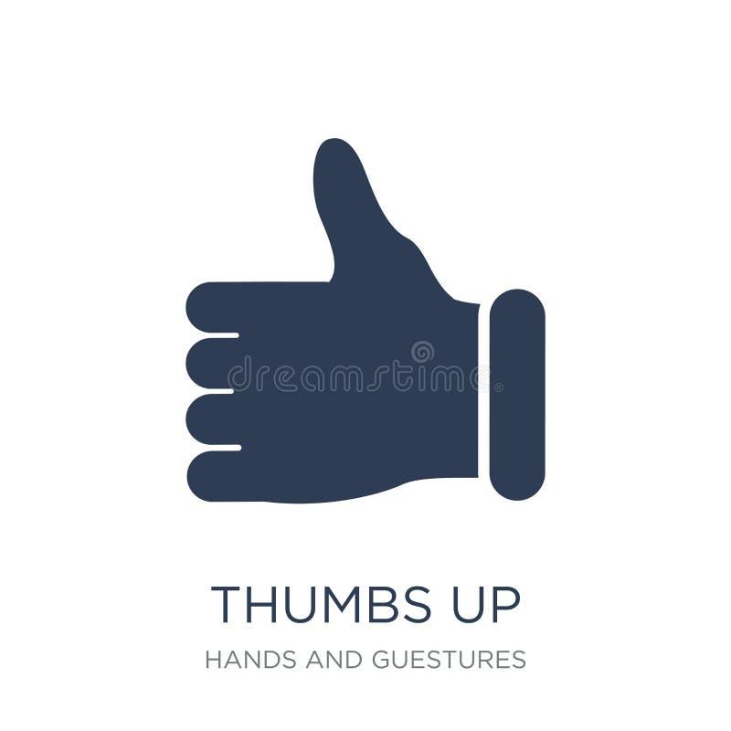 Большие пальцы руки поднимают икону  иллюстрация вектора