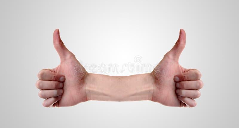 большие пальцы руки 2 вверх стоковое изображение