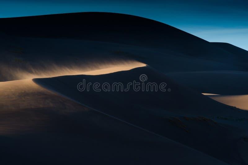 Большие песчанные дюны, Колорадо стоковые изображения
