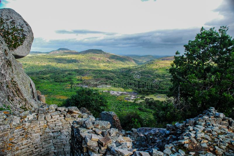 Большие руины Зимбабве, Зимбабве стоковая фотография rf