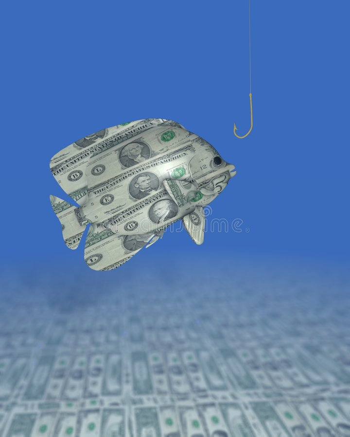большие рыбы доллара бесплатная иллюстрация