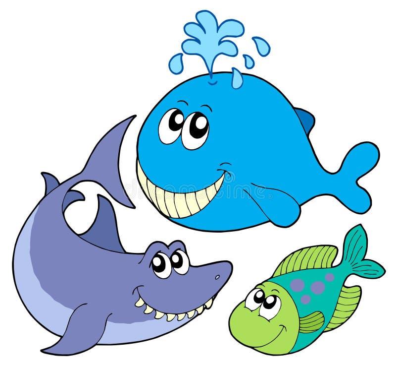 большие рыбы собрания иллюстрация вектора