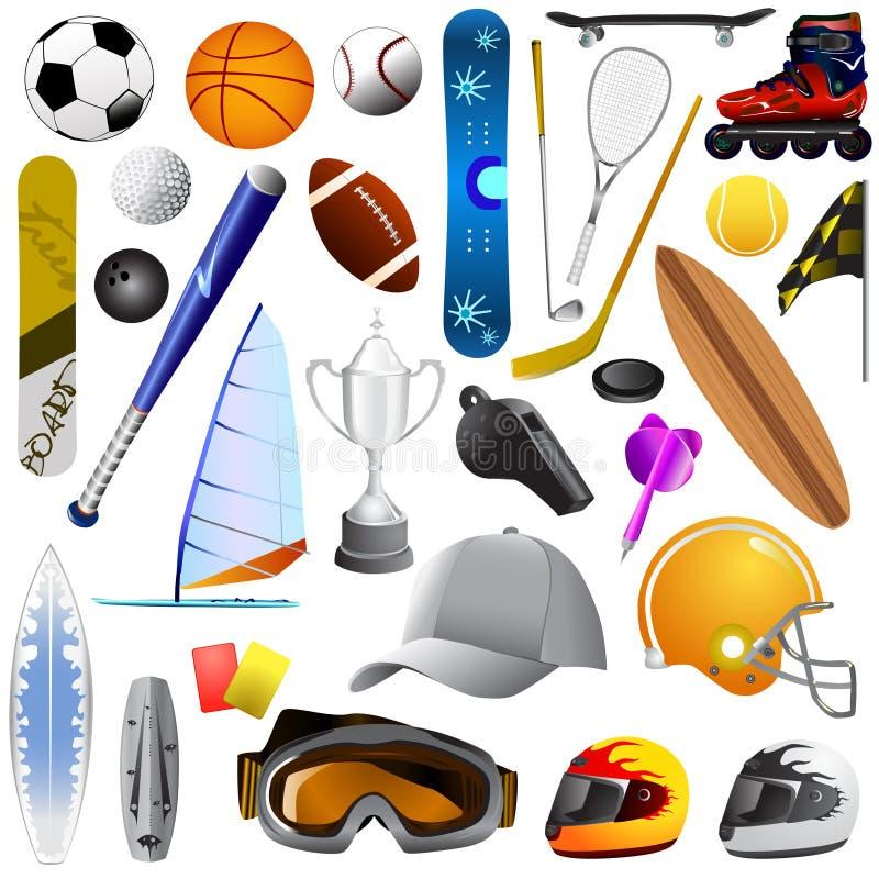 большими спорт установленный предметами бесплатная иллюстрация