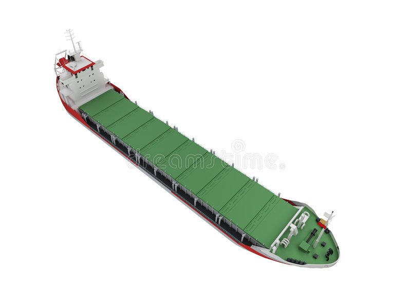 большим взгляд корабля груза изолированный фронтом бесплатная иллюстрация