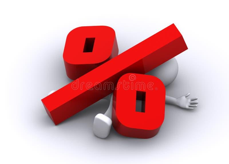 большим задавленный характером символ процентов 3d бесплатная иллюстрация