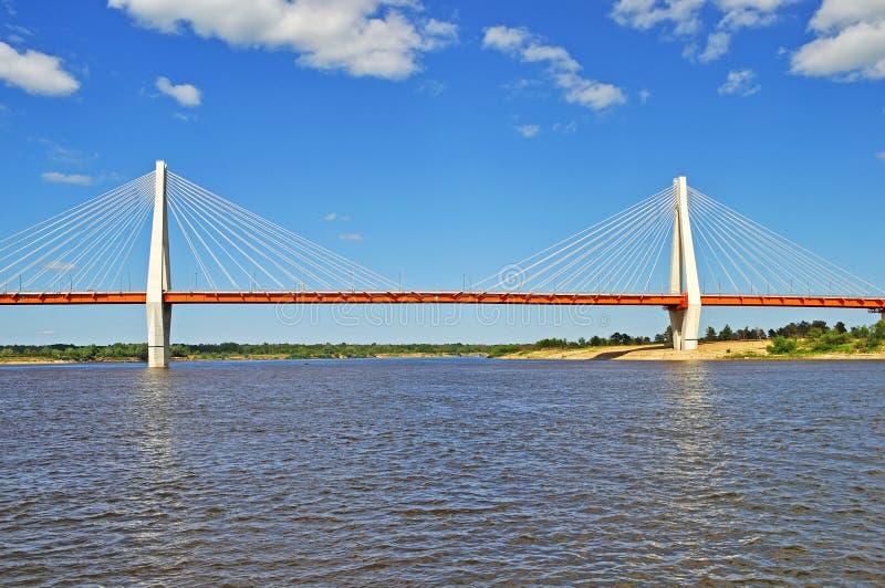 большим murom guyed мостом Россия стоковое изображение