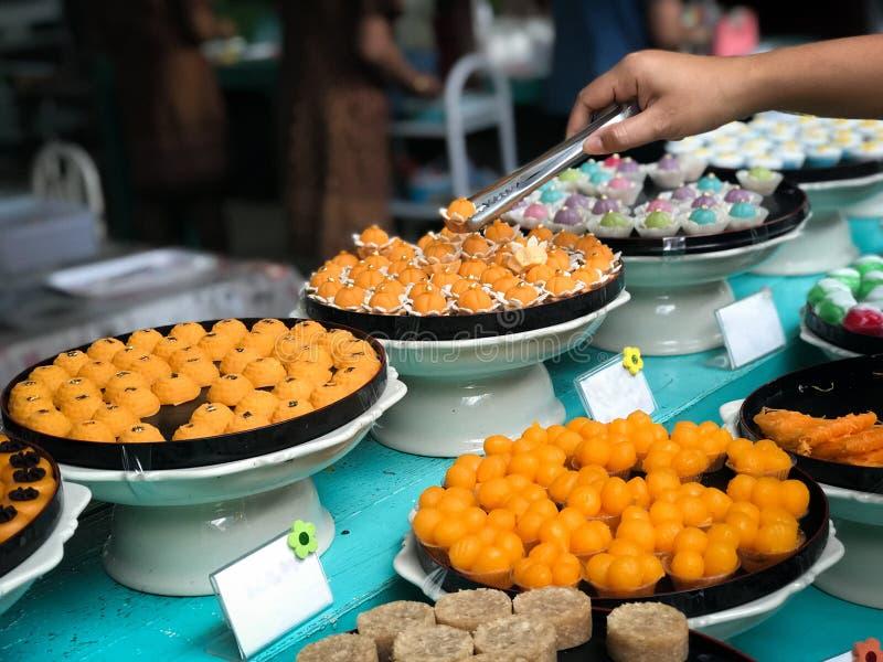 Большинств известное 9 благоприятных десертов в тайской традиции стоковое фото rf