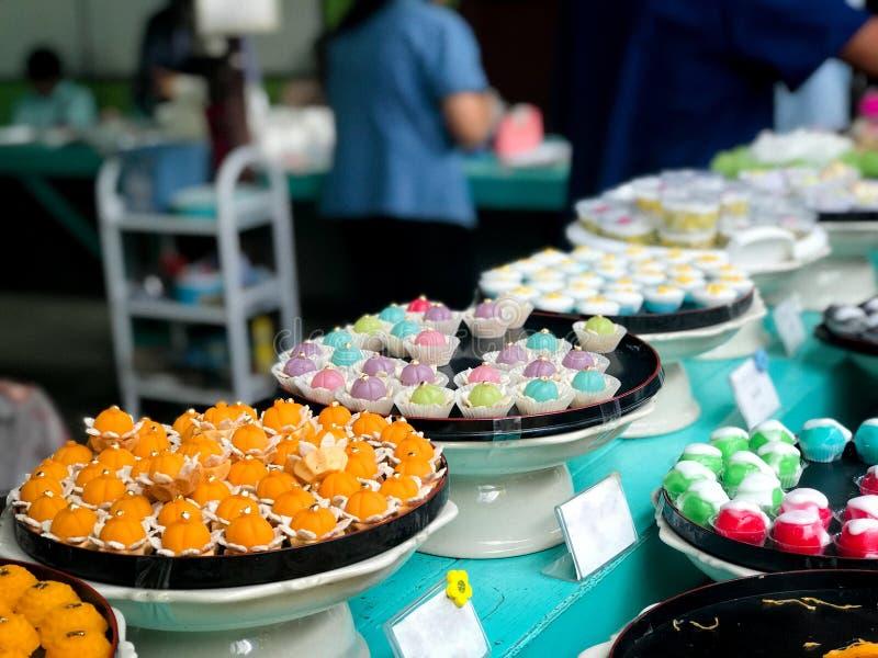Большинств известное 9 благоприятных десертов в тайской традиции стоковые изображения rf