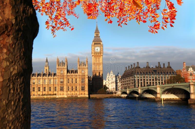 Большое Бен в Лондоне, Англии стоковое изображение rf