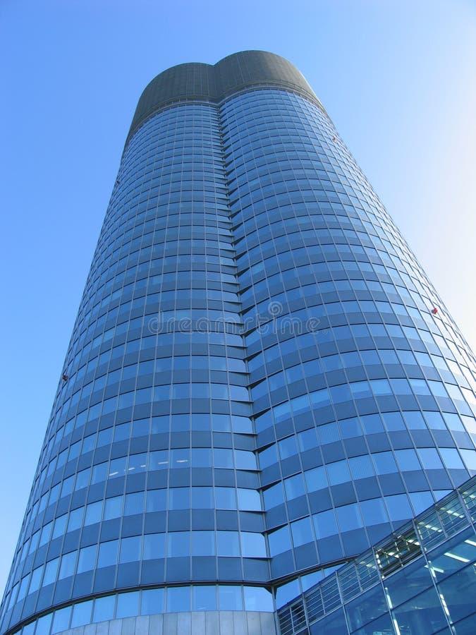 большое голубое дело здания стоковые изображения rf