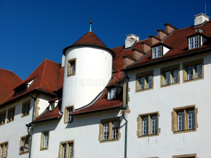 Большое здание от предоконечного столетия с круглой башней купола стоковое фото