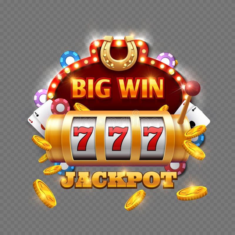 Большое казино лотереи выигрыша на прозрачной предпосылке иллюстрация штока